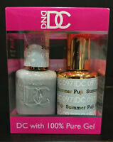 DND DC Soak Off Gel Polish Summer Fuji 097 LED/UV 6oz 18ml Gel Duo Set NEW