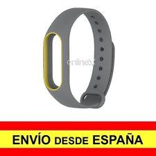 Correa Recambio para XIAOMI MI BAND 2 Pulsera Ajustable GRIS - AMARILLO a2925