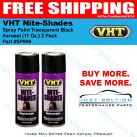 VHT Nite-Shades Spray Paint Transparent Black Aerosol SP999 (11 Oz.) 2-Pack