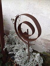 EDELROST DESIGN Skulptur Spirale  UNIKAT Skulptur Edel Rost Gartendeko Neu