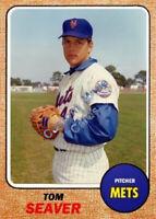 Custom made Topps 1968 New York Mets Tom Seaver Baseball card 3