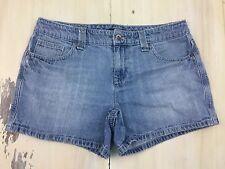 TOMMY HILFIGER: Vtg 90s Womens Light Blue Faded Low Rise Denim Jean Shorts, Sz 8