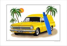 HOLDEN  EH PANELVAN 179 SURF WAGON  LIMITED EDITION CAR PRINT AUTOMOTIVE ARTWORK