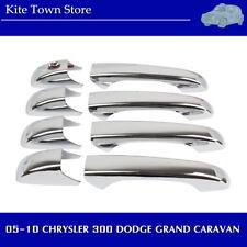 NEW CHROME DOOR HANDLE COVER for 05-10 CHRYSLER 300 DODGE GRAND CARAVAN/AVENGER