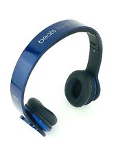 Beats By Dr Dre Solo HD Headphones Blue High Definition Sound Foldable Corded