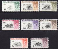 Falkland Islands Part Set of Birds c1960-66 Lightly Mounted Mint 8 Stamps (6361)