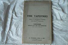 CHRISTIES  SALE CATALOGUE APRIL 3 1927 TAPESTRIES OF DUKE OF BRUNSWICK-LUNEBURG