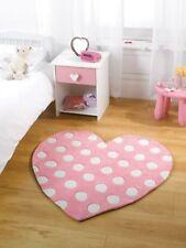 Pour Enfants Tapis Souple en Rose Pastel Couleur Design Cœur Tapis 90 X 90 Cm