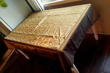 """Chinese Gold Silk Embroidered Tablecloth Tapestry Cover Textile 72""""x 54"""""""