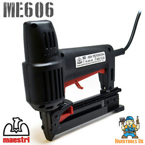 Maestri ME606 Electric Flooring Stapler / Staple Gun  / Nailer / Bradder - 220V
