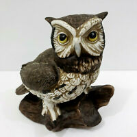 Vintage HOMCO Horned Owl Ceramic #1114 Wise Home Interior Decorative Collectible