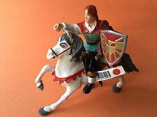 2 PAPO plastic figurines, Prince (390075) & White Horse, 1999, discontinued