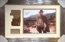 CLINT EASTWOOD The GOOD The BAD AND THE UGLY SIGNED PRESENTATION AFTAL#198