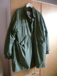 US Army Large Extreme Cold Weather Fishtail MOD Shell Parka M65 Jacke mit Futter