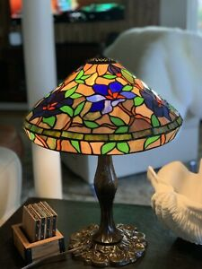 "22""WATERLILY TIFFANY STYLE LAMP"