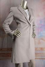 $3990 New with tag AKRIS Beige Sabbia Pin Stripe Coat Jacket 6 36