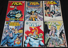 New England THE TICK 6pc Count Mid Grade Comic Lot FN+ to VF #'s 1 3 4 5 6 7