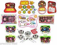 Lovely Tea Playset Kids Party Time Teapot Cups Plates Play Set Children Gift toy