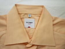 E7882 Olymp Luxor Businesshemd Kombimanschette 42 apricot meliert glänzend Uni