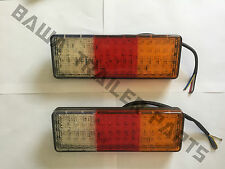 LED Trailer Lights 90x260mm M/VOLT with 75 LEDs and Reverse light