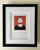 ANDY WARHOL AWESOME 1984 SIGNED SELF PORTRAIT PRINT MATTED 8X10