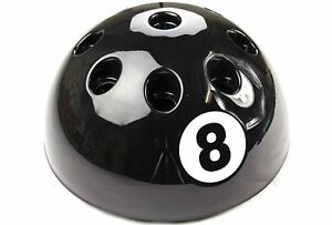 NEW GIANT CIRCULAR BLACK 8 BALL CUE RACK STAND SNOOKER BILLIARD POOL TABLE 9 CUE