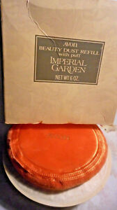 "Avon Beauty Dust Refill with puff ""Imperial garden"" 6oz. New."