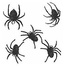 Halloween pailleté araignée forme CARTON TAILLE ASSORTIE découpes