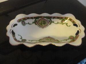 Antique M Z Austria Vanity Tray/serving Porcelain Dish
