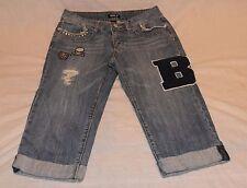ALLEN B. by Allen SCHwartz Denim Capri Patched Distressed Jeans Studs Size 6