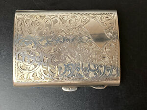Solid Silver Victorian English Hallmarked Calling Card Case