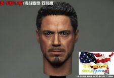 "1/6 Iron Man Tony Stark Head Sculpt For 12"" Hot Toys Male Figure Coomodel ❶USA❶"