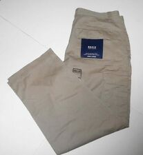 BASIC EDITIONS CARGO KHAKI 100% COTTON PANTS LOOSE IN SEAT & THIGH -NWT-36W X30L