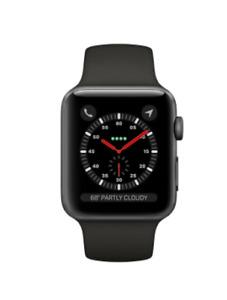 Apple Watch Series 3 38mm Space Gray Aluminum Case Black Sport Band Smart Watch