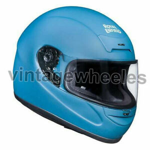 For - Royal Enfield Old Madras Full Face Helmet - Matt Squadron Blue