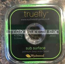 NEW 2 x 50m Wychwood Truefly Sub Surface TIPPET Line 10LB 100m Fly Leader