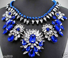 2014New Design Lady Bib Statement inspiration clear pendant S&L necklace collar