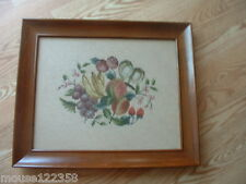 Hand Crafted Fruit Needlepoint Framed Picture nice desi