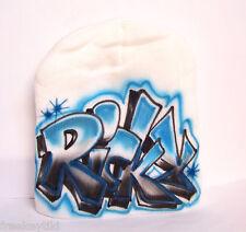 Custom Airbrush Graffiti Block Tagger Urban Adult Kids Youth Cap Hat Beanie