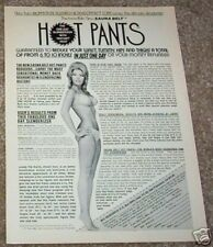 1971 ad page - Sauna Belt Hot Pant reducer sexy girl PAT KARLIN vintage AD PAGE