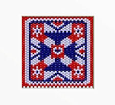 Patriotic Quilt Block Beaded Banner Pattern