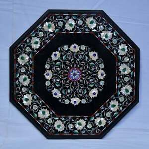 "36"" Marble Center / Coffee Table Top Inlay Pietra Dura Art Handicraft Decor"