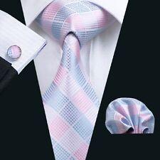 SN-1198 necktie set silk tie men tie hanky cufflink set pink causal wedding neck