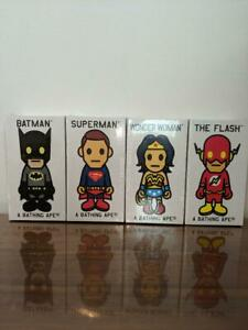 A BATHING APE BAPE x DC COMICS Figure BATMAN SUPERMAN WONDER WOMAN THE FLASH