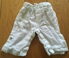 Baby Boys White GAP Linen Trousers Size Newborn