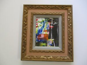 GERALD PAYNE ROWLES B. 1929 PAINTING NON OBJECTIVE ABSTRACT EXPRESSIONIST MOD