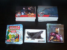 AVENGERS ASSEMBLE LOT OF 131 BASE CARDS & 24 INSERT CARDS