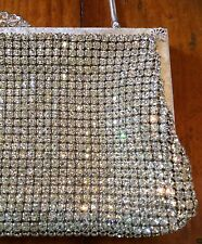 Vintage rhinestone crystal diamanté Oroton style handbag purse clutch