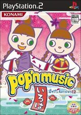 Used PS2  Pop'n Music 12 Iroha SONY PLAYSTATION JAPAN IMPORT