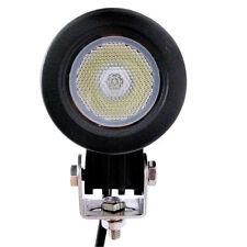 Round 10W Cree LED Work Light Head Light 800LM Flood Lamp 12V 24V Boat ATV Bike